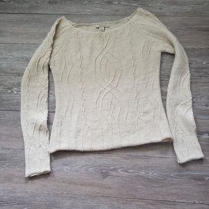 Cream Free People sweater large